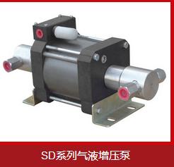 气体增压泵进行空气压缩的过程